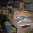 小屋の物置棚